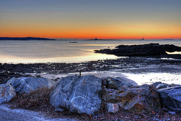 Photograph - Portsmouth Harbor At Sunrise Portsmouth Nh New Hampshire by Toby McGuire