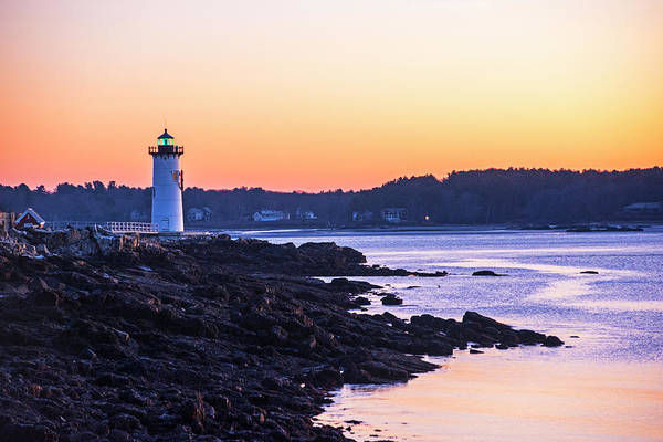 Photograph - Portsmouth Light At Sunrise Portsmouth Nh New Hampshire by Toby McGuire