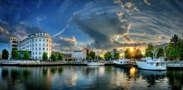 Photograph - Portsmouth Sunset by Williams-Cairns Photography LLC