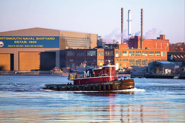 Wall Art - Photograph - Portsmouth Tug On The Piscataqua by Eric Gendron