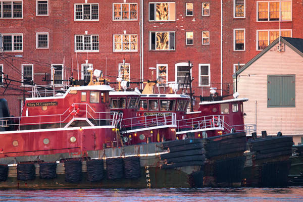 Wall Art - Photograph - Portsmouth Tugboats At Sunset by Eric Gendron