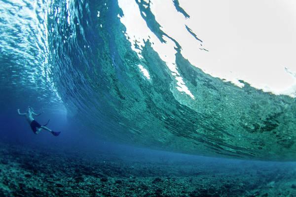 The Maldives Photograph - Poseidon Push by Sean Davey