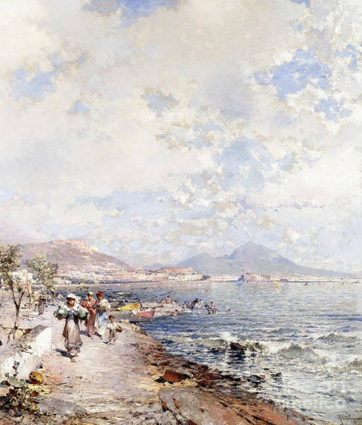 Wall Art - Painting - Posilipo, Naples by Franz Richard Unterberger