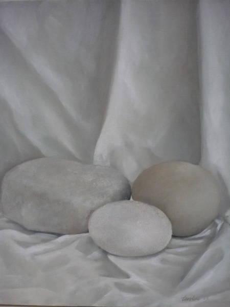 Painting - Posing Pebbles by Caroline Philp