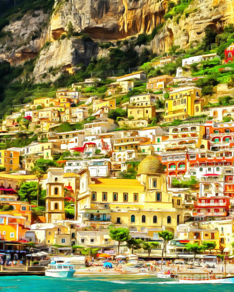 Photograph - Positano Fishing Village Amalfi Coast Campania Italy 20170918 Vertical by Wingsdomain Art and Photography