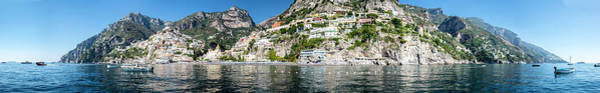 Photograph - Positano From The Sea - Panorama II by Matt Swinden