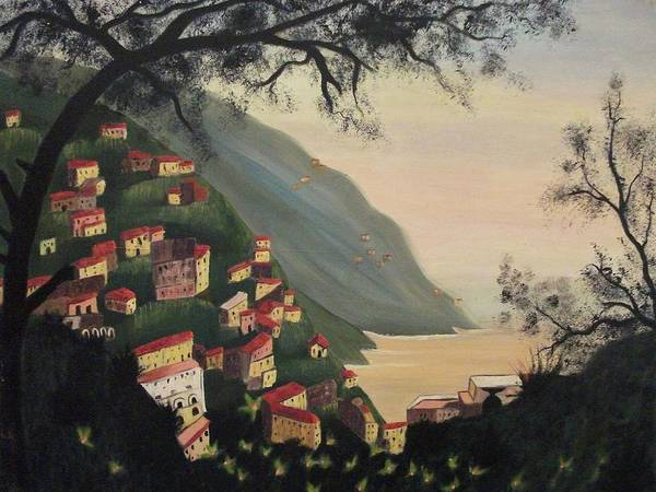 Leclair Painting - Positano Italy by Suzanne  Marie Leclair
