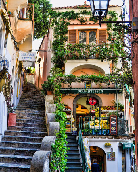 Shopping Photograph - Positano Shopping by Jon Berghoff