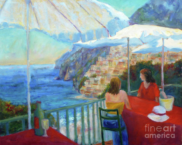 Painting - Positano Dining by Carolyn Jarvis