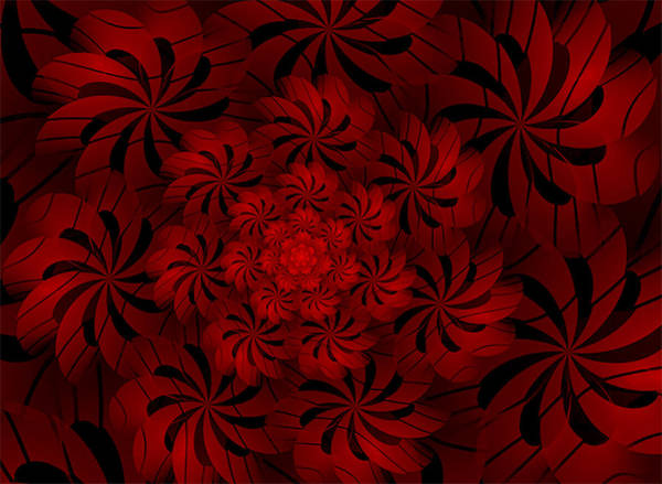 Digital Art - Positively Red by Barbara A Lane