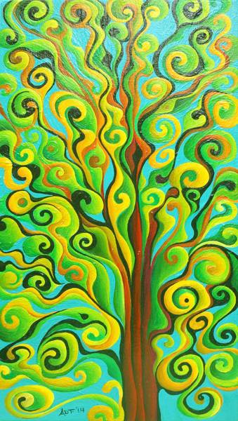 Painting - Positronic Spirit Tree by Amy Ferrari
