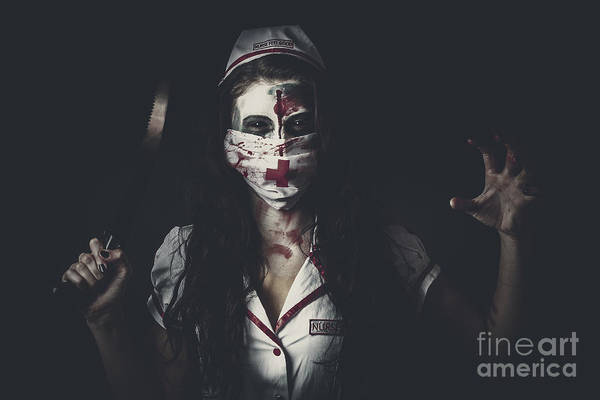 Wall Art - Photograph - Possessed Health Practitioner With Surgeon Saw by Jorgo Photography - Wall Art Gallery