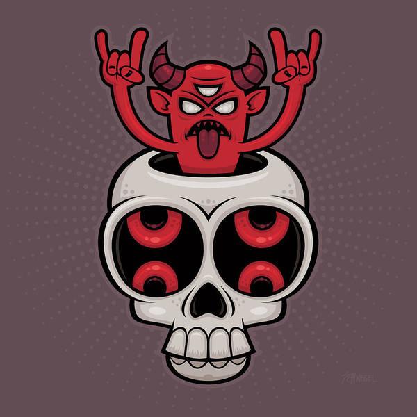 Satan Digital Art - Possessed by John Schwegel