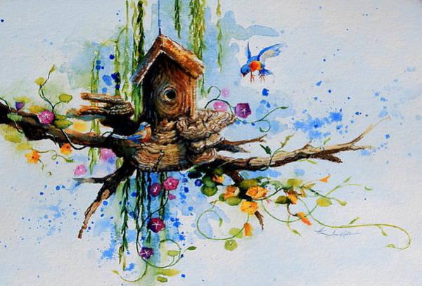 Birdhouse Painting - Possibilities by Hanne Lore Koehler
