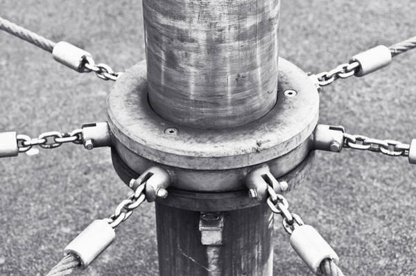Gravitation Photograph - Post And Chains by Tom Gowanlock