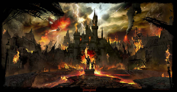 Concept Wall Art - Digital Art - Post Apocalyptic Disneyland by Alex Ruiz