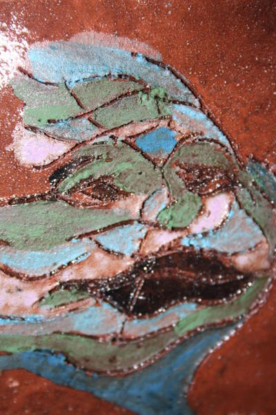 Painting - Post Carnival Blues Tile by Gloria Ssali