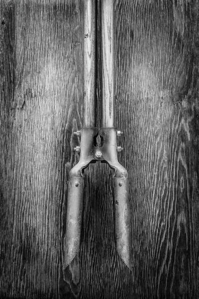 Wall Art - Photograph - Post Hole Digger II On Plywood 73 In Bw by YoPedro