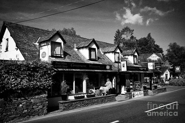 Grasmere Wall Art - Photograph - Post Office And Grasmere Weavers Shop In Grasmere Lake District Cumbria England Uk by Joe Fox