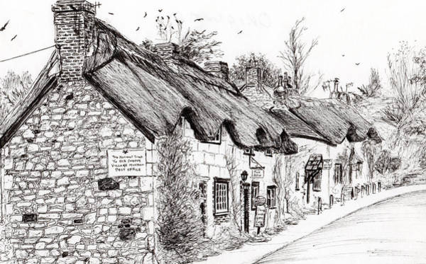 Great Britain Drawing - Post Office And Museum by Vincent Alexander Booth