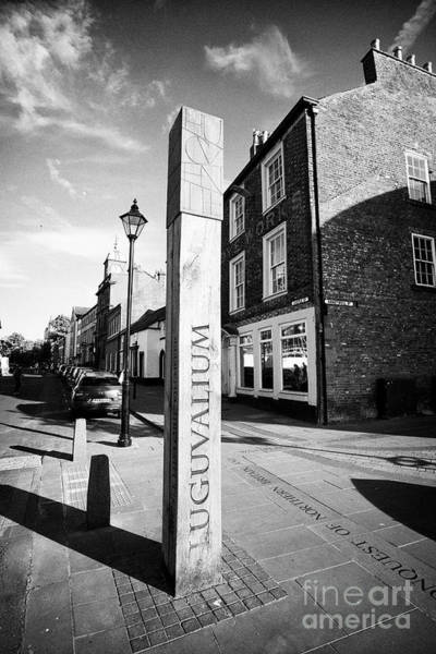 Roman Fort Photograph - post representing the roman town of luguvalium located in present day Carlisle Cumbria England UK by Joe Fox