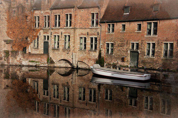 Brick Gothic Photograph - Postcard Canal II by Joan Carroll