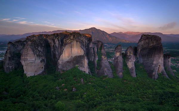 Wall Art - Photograph - Postcard From Meteora by Jaroslaw Blaminsky