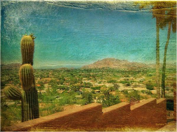 Camelback Mountain Photograph - Postcard From The Past by Barbara Zahno