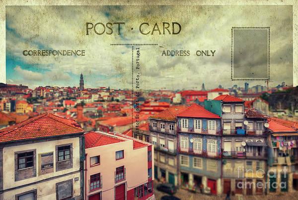 Digital Art - postcard of Porto by Ariadna De Raadt