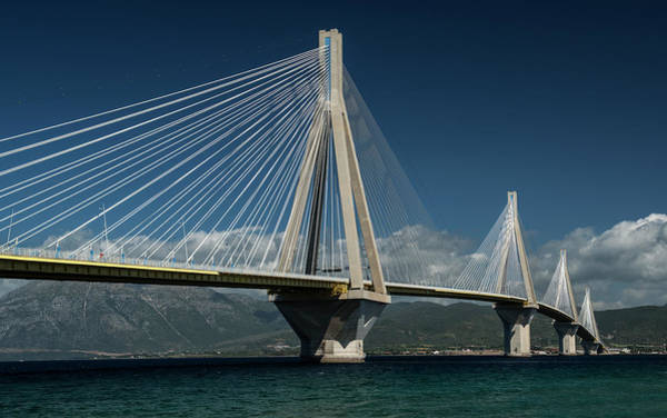 Postcard With Rio-andirio Bridge  Art Print