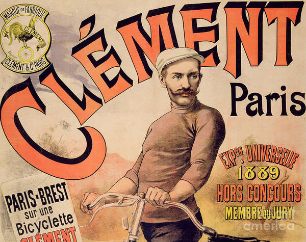 Mustache Painting - Poster Advertising Clement Bicycles, 1889 by French School