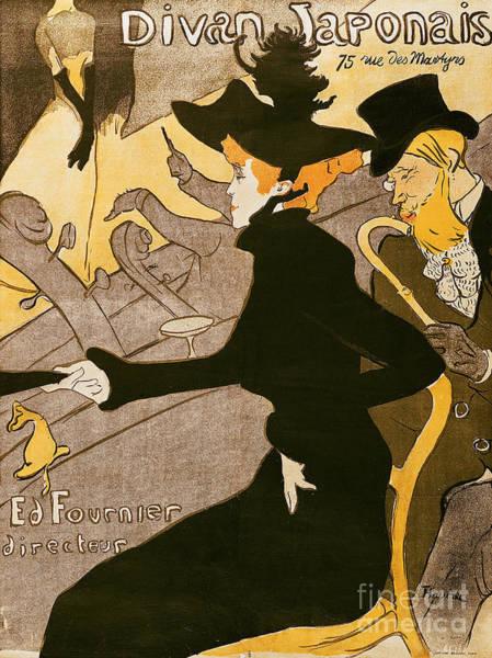 Hat Wall Art - Painting - Poster Advertising Le Divan Japonais by Henri de Toulouse Lautrec