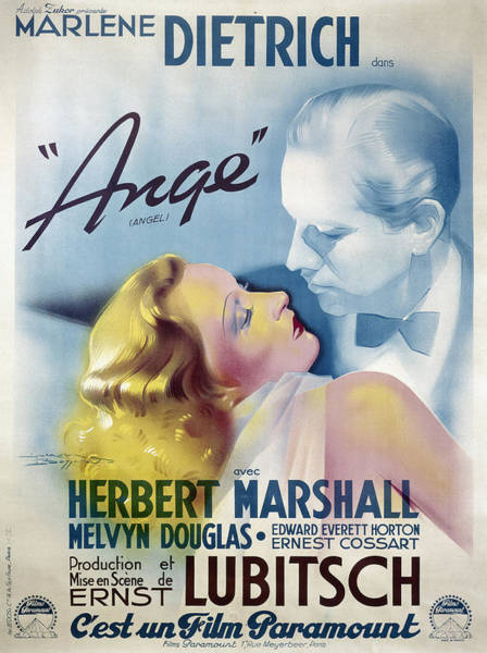 Photograph - Poster: Angel, 1937 by Granger