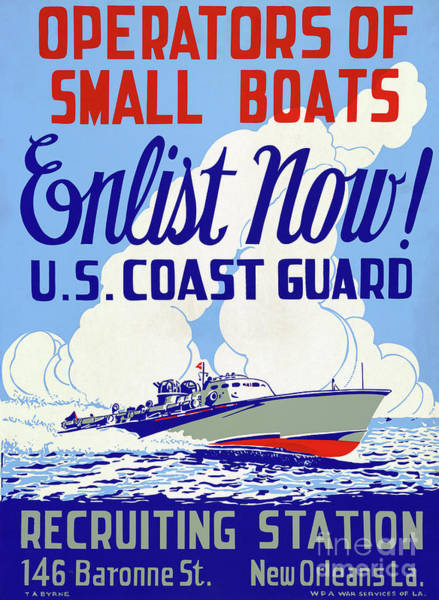 Drawing - Poster, Coast Guard, C1942.  by Granger