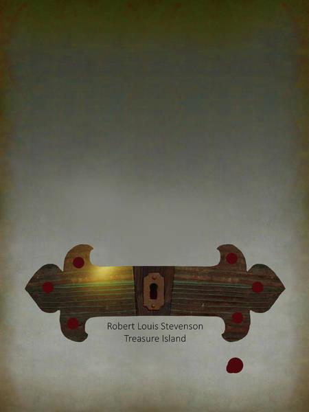 Digital Art - Poster For Stevenson's Treasure Island by Attila Meszlenyi