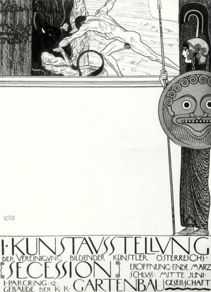 Wall Art - Drawing - Poster For The 1st  Vienna Secession by Gustav Klimt