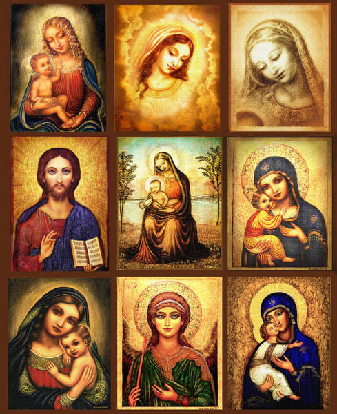 Wall Art - Painting - Poster Madonnas 2 by Ananda Vdovic