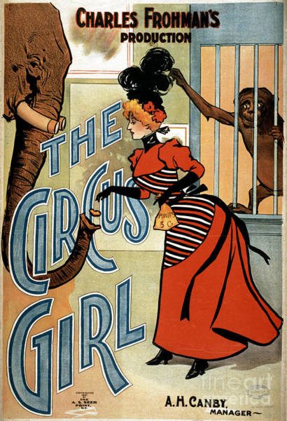 Photograph - Poster, The Circus Girl.  by Granger