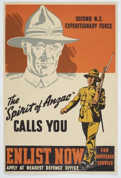 Department Of The Army Wall Art - Painting - Poster The Spirit Of Anzac Calls You Late 1939  Early 1940 Wellington By Whitcombe And Tombs Lim by Celestial Images