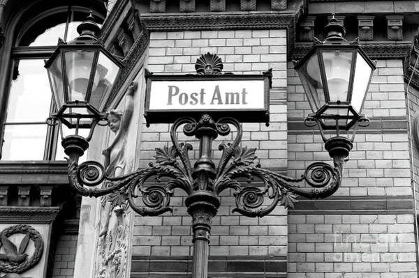 Wall Art - Photograph - Postfuhramt Street Lights In Berlin by John Rizzuto