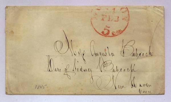 Handwriting Photograph - Postmarked And Addressed Envelope by Gillham Studios