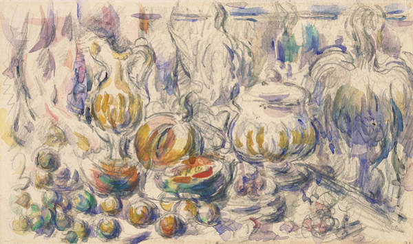 Drawing - Pot And Soup Tureen  by Paul Cezanne