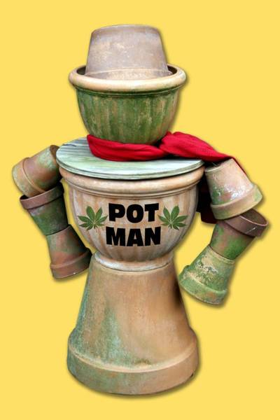 Photograph - Pot Man T-shirt by Bob Slitzan