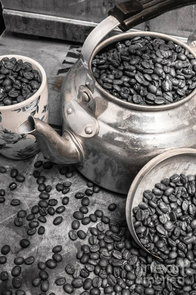 Photograph - Pot Of Old Coffee Beans by Jorgo Photography - Wall Art Gallery