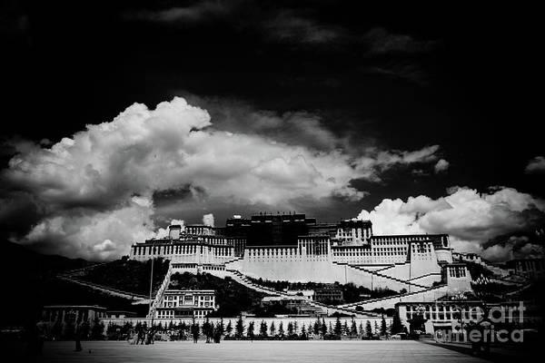 Photograph - Potala Palace Bw. Lhasa, Tibet. Yantra.lv by Raimond Klavins