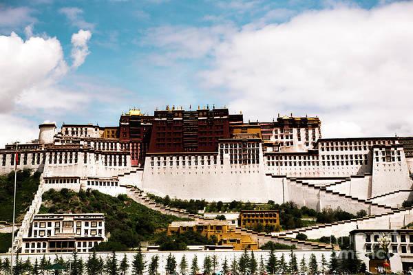Kora Wall Art - Photograph - Potala Palace Dalai Lama Home Place. Tibet Kailash Yantra.lv 2016  by Raimond Klavins