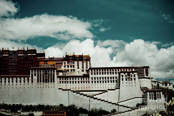 Photograph - Potala Palace, Fragment. Lhasa, Tibet. Yantra.lv by Raimond Klavins