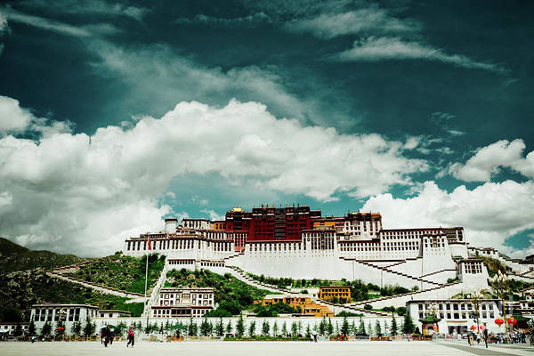 Photograph - Potala Palace. Lhasa, Tibet. Dalai Lama. Yantra.lv by Raimond Klavins