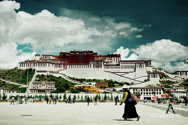 Photograph - Potala Palace. Lhasa, Tibet. Yantra.lv by Raimond Klavins