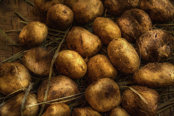 Ingredient Digital Art - Potatoes In Light by Louloua Asgaraly